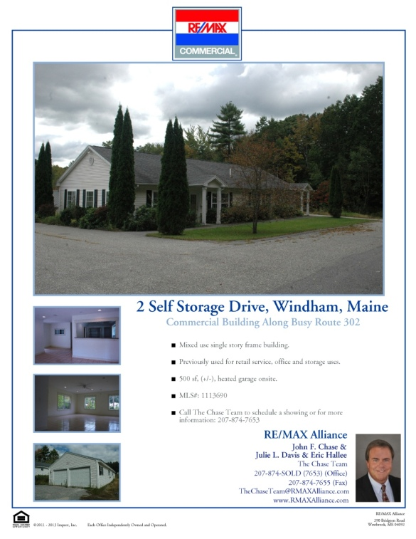 For Sale: 2 Self Storage Drive, Windham, Maine 04062