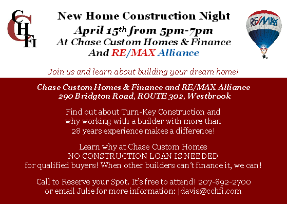 Join us for New Home Construction Night!